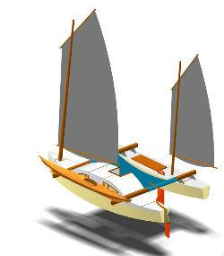 catamaran en contreplaqué